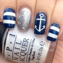 Sweet Blue Nails Ideas that Make Cool and Calm Appearance 89