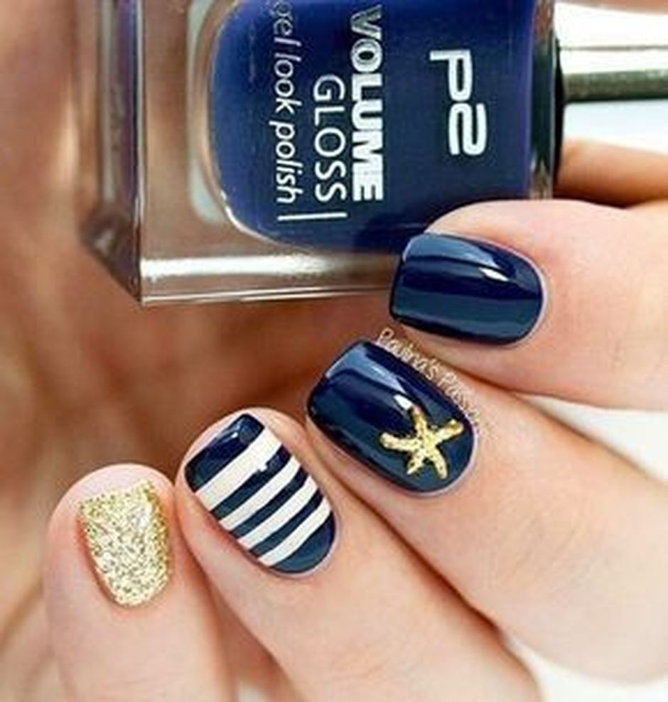 Sweet Blue Nails Ideas that Make Cool and Calm Appearance 94