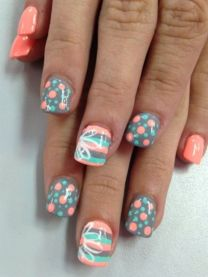 Best Colorful and Stylish Summer Nails Ideas 26