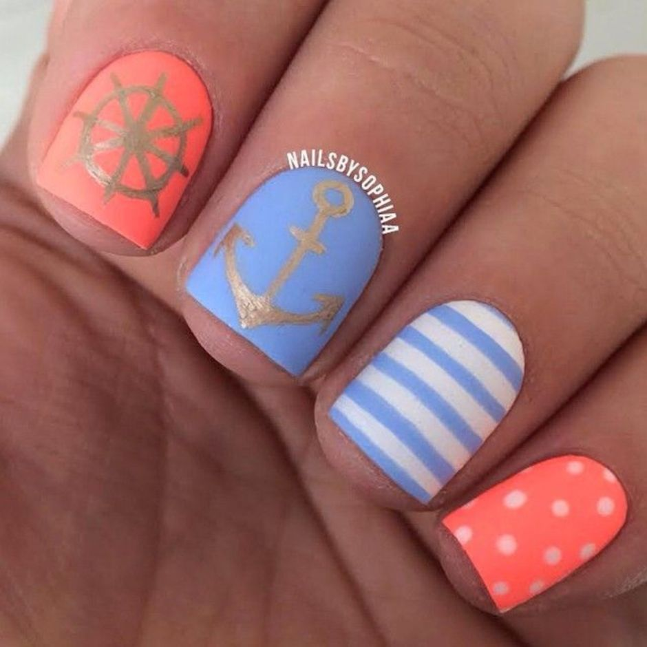 Best Colorful and Stylish Summer Nails Ideas 51
