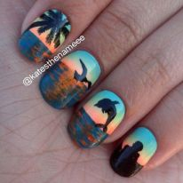 Best Colorful and Stylish Summer Nails Ideas 56