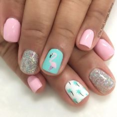 Best Colorful and Stylish Summer Nails Ideas 70