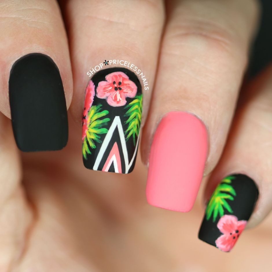 Best Colorful and Stylish Summer Nails Ideas 87