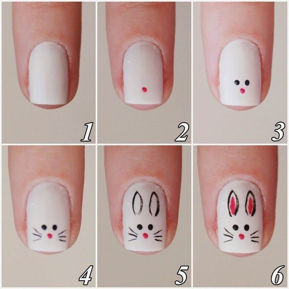 Cute and Easy Easter Nail Art Design Ideas 1