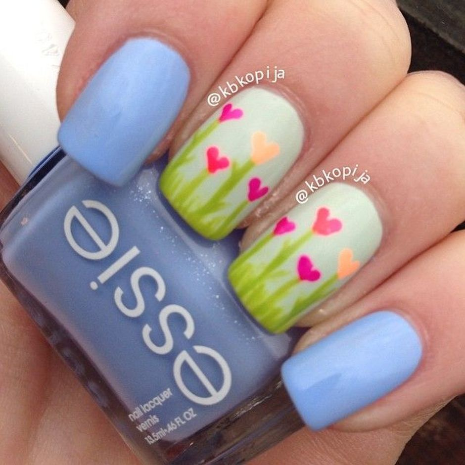 Cute and Easy Easter Nail Art Design Ideas 12