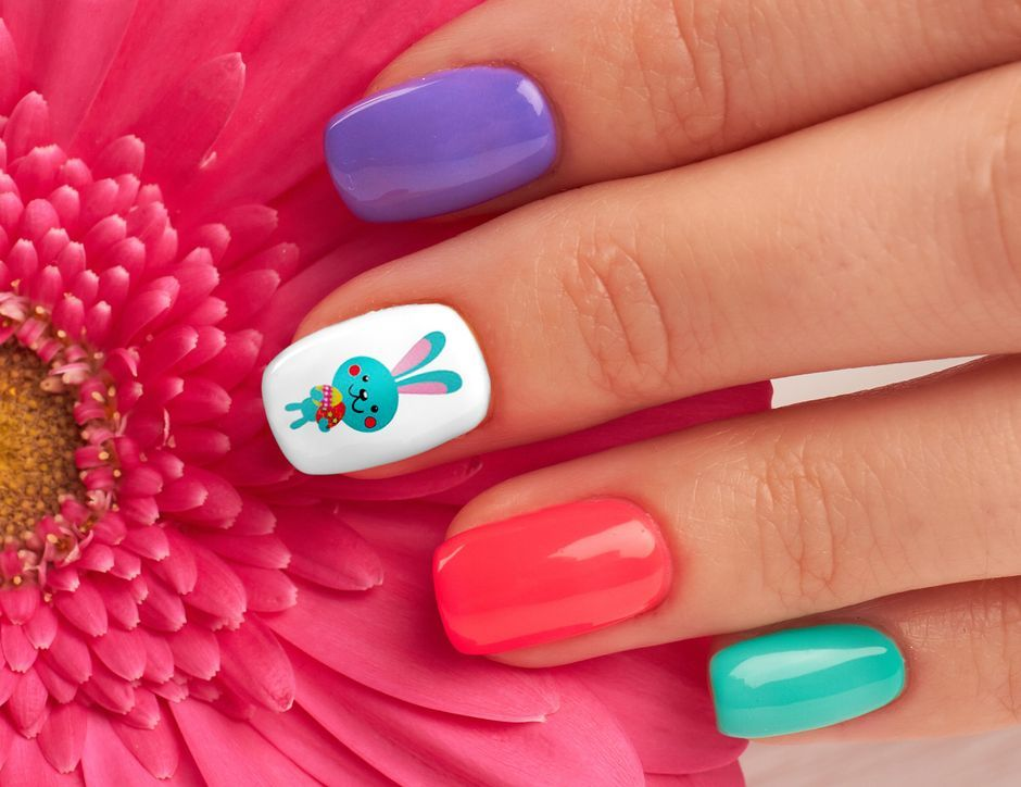 Cute and Easy Easter Nail Art Design Ideas 23