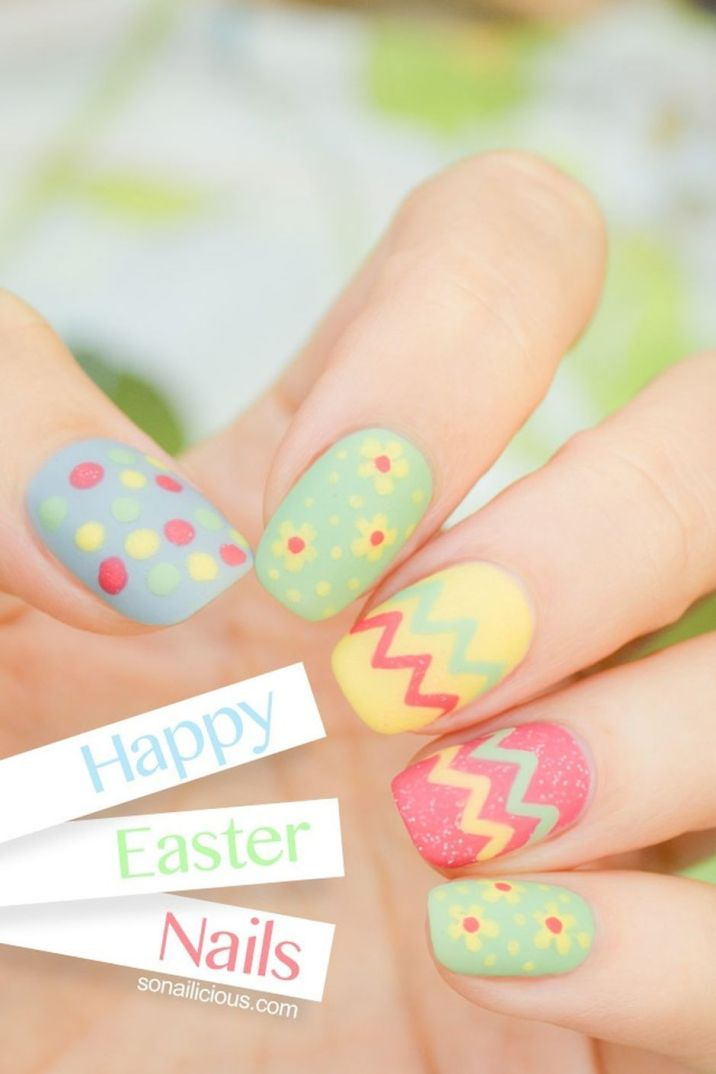 Cute and Easy Easter Nail Art Design Ideas 3