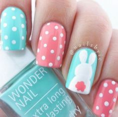 Cute and Easy Easter Nail Art Design Ideas 30