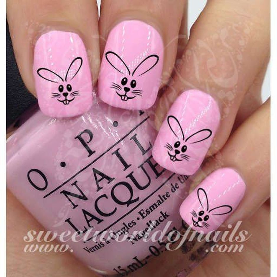 Cute and Easy Easter Nail Art Design Ideas 35