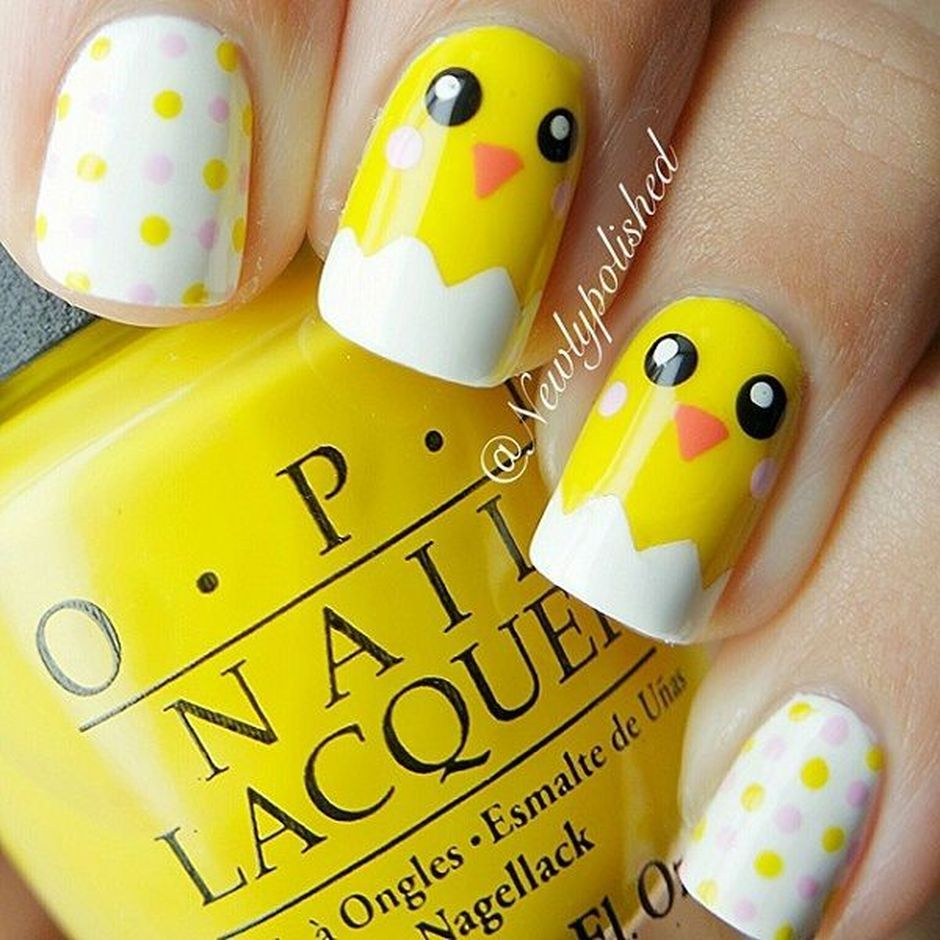 Cute and Easy Easter Nail Art Design Ideas 39