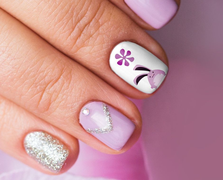Cute and Easy Easter Nail Art Design Ideas 55