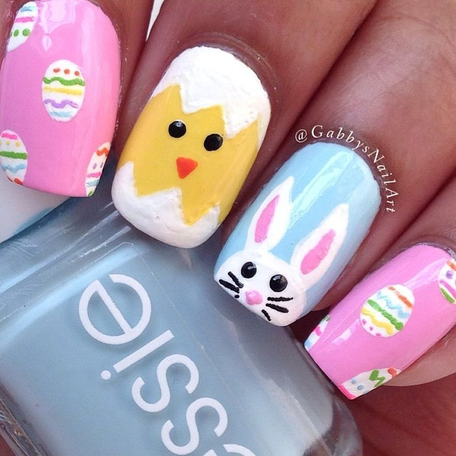 Cute and Easy Easter Nail Art Design Ideas 9