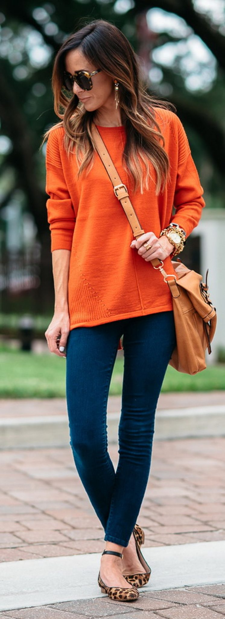 55 Orange Outfit Ideas That Make You Look Young and Fresh 20