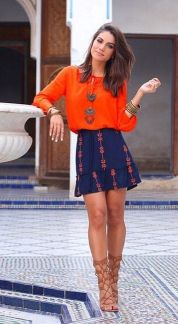 55 Orange Outfit Ideas That Make You Look Young and Fresh 42