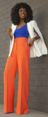55 Orange Outfit Ideas That Make You Look Young and Fresh 5