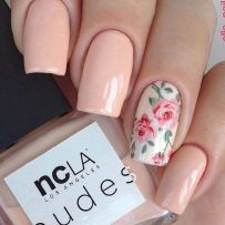 Awesome Floral Nails Design Ideas 13