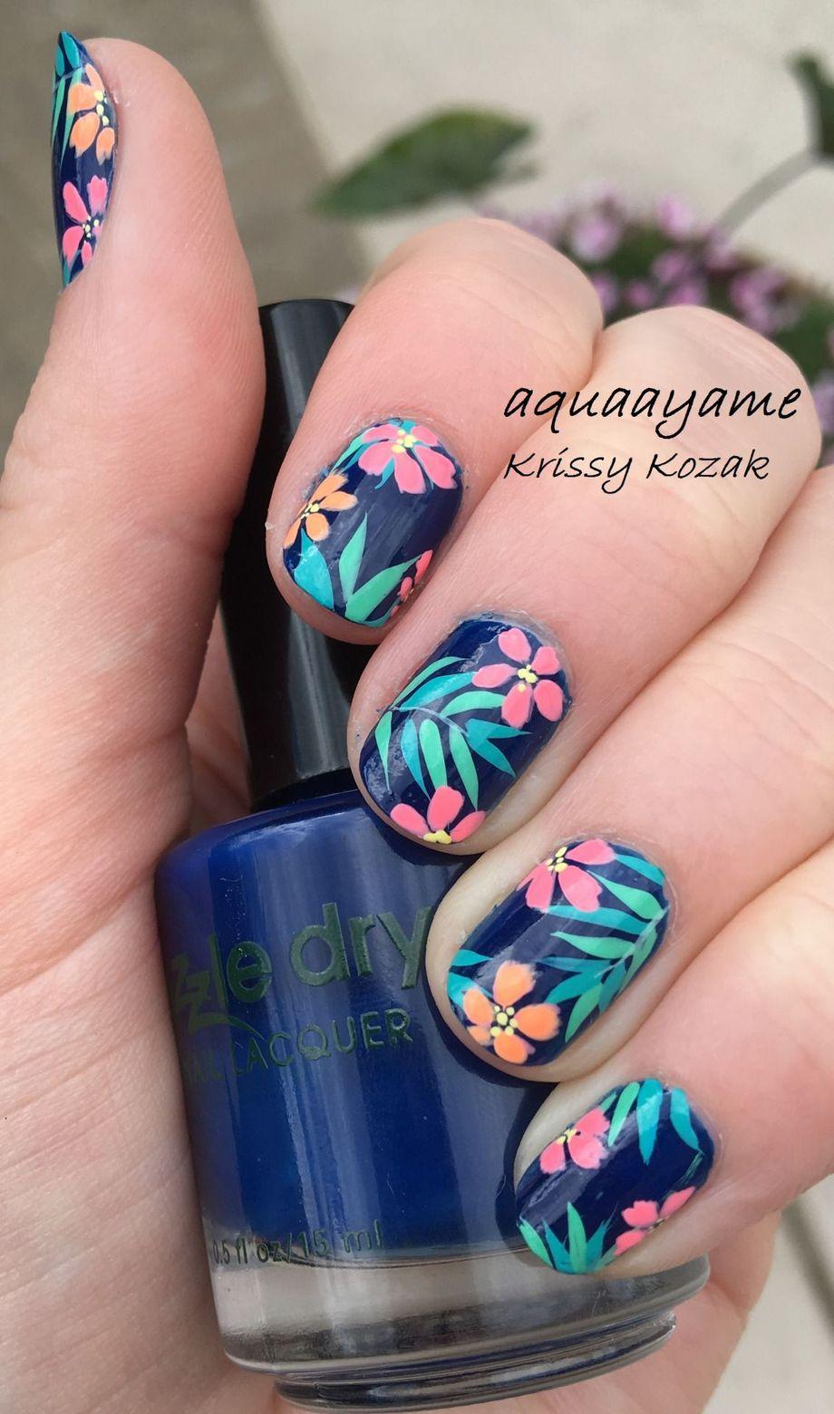 Awesome Floral Nails Design Ideas 23