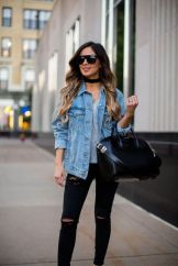 Denim Jacket Outfits Inspirations for Girl 1