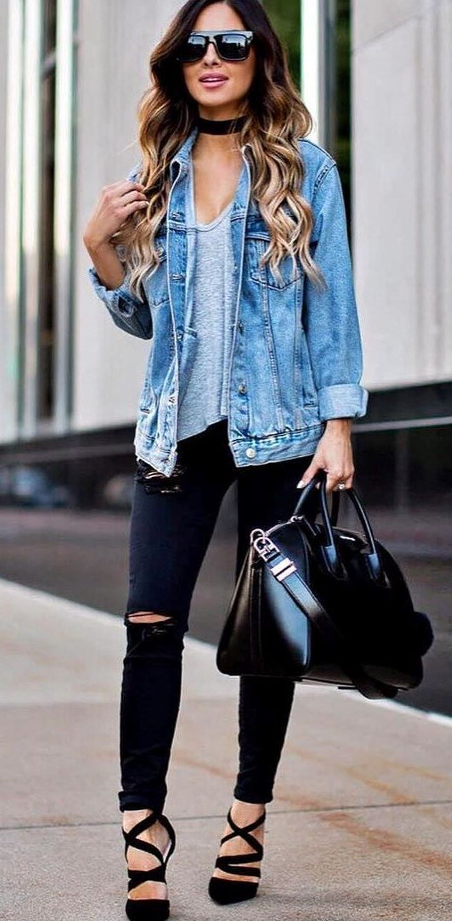Denim Jacket Outfits Inspirations for Girl 16