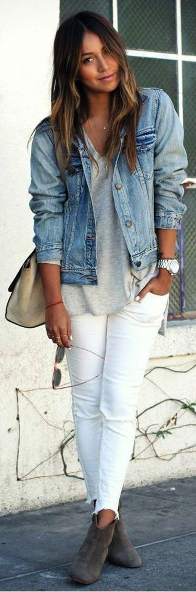 Denim Jacket Outfits Inspirations for Girl 3