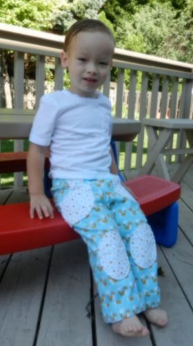 AJ sitting