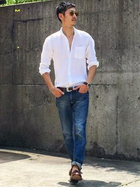 「白シャツ デニム」の画像検索結果