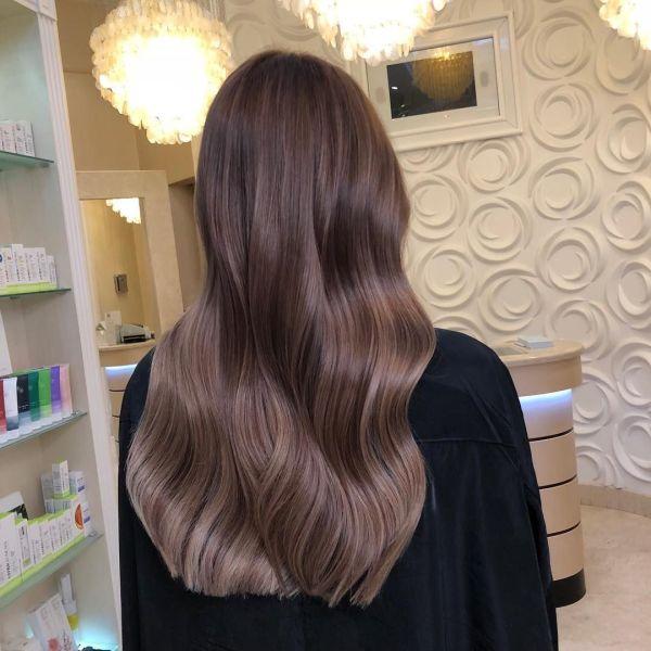 Растяжка цвета на волосах: модное окрашивание, 118 фото-идей