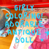 Girly Coloring Adorable Antique doll
