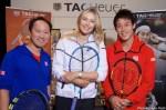 パリのタグ・ホイヤー チャリティイベントに、錦織圭、マリア・シャラポワ、マイケル・チャンが登場