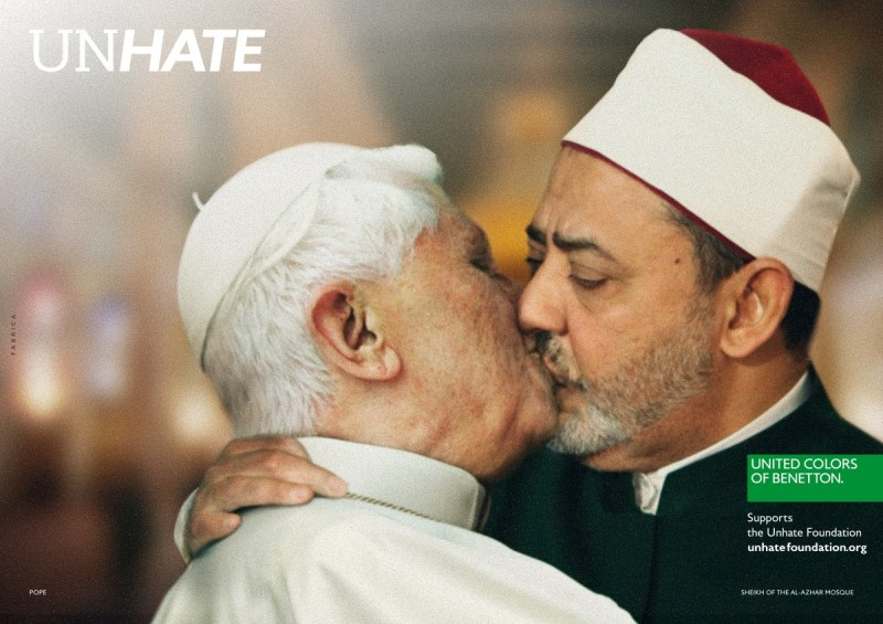 Benetton Unhate Campaign Featuring World Leaders Kissing