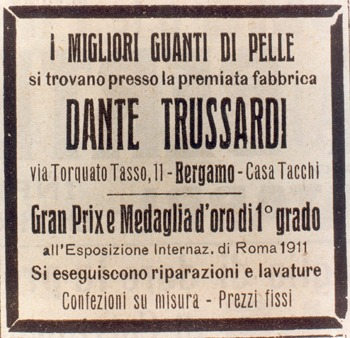Mame Fashion Dictionary: Trussardi 1911 Dante Trussardi Sign