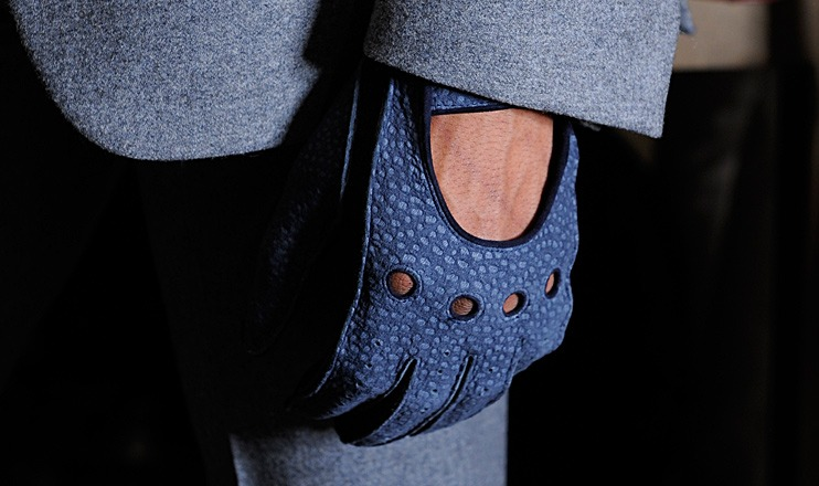 Mame Fashion Dictionary: Trussardi Blue Leather Gloves