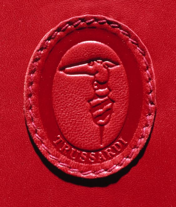 Mame Fashion Dictionary: Trussardi Red Leather Greyhound Logo