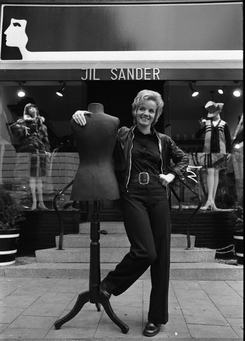 217d40bf0de5e Picture of Jil Sander in front of her Hamburg boutique 1968. Photographed  By  Hans