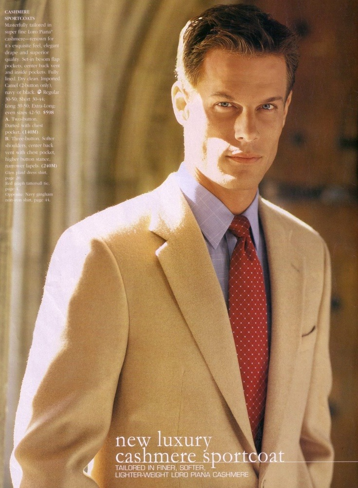 Brett Hollands by Matt Albiani for Brooks Brothers Fall 2002 Collection