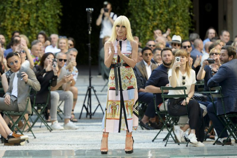 Donatella Versace at Spring 2018 Milan Fashion Week Collection