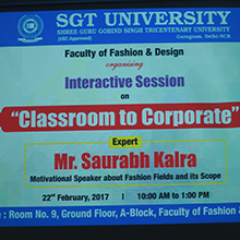 "Interactive Session on ""Classroom to Corporate"""