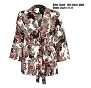 River Island - Red paisley print belted jacket €80.00