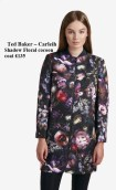 Ted Baker –Carleih Shadow Floral Cocoon Coat £135