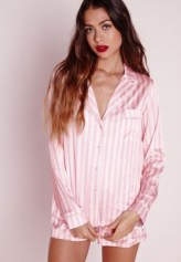 night shirt pink set missguided
