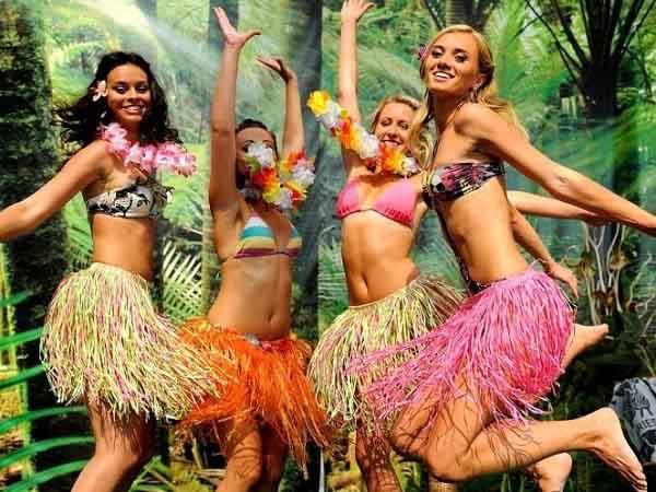 Гавайские мотивы на русской свадьбе