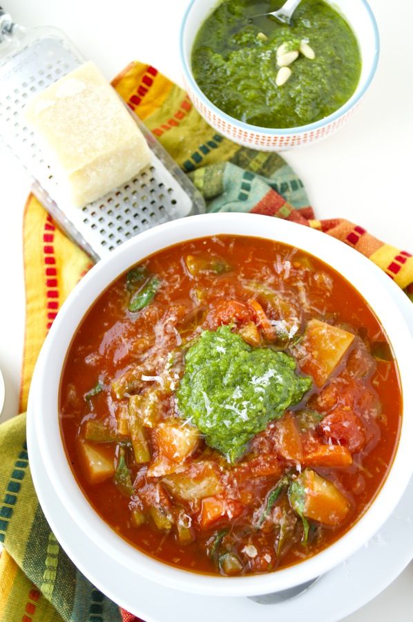 Italian Vegetable Stew Overhead