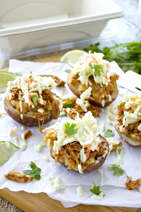 Chipotle Pulled Pork Stuffed Potatoes