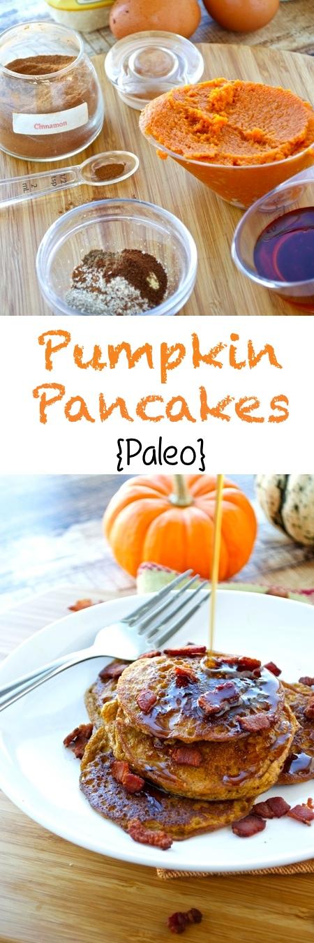 Paleo Pumpkin Pancakes Pin