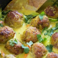 Thai Yellow Curry Turkey Meatballs
