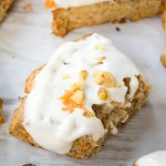 Carrot Cake Scones {with Cream Cheese Glaze}