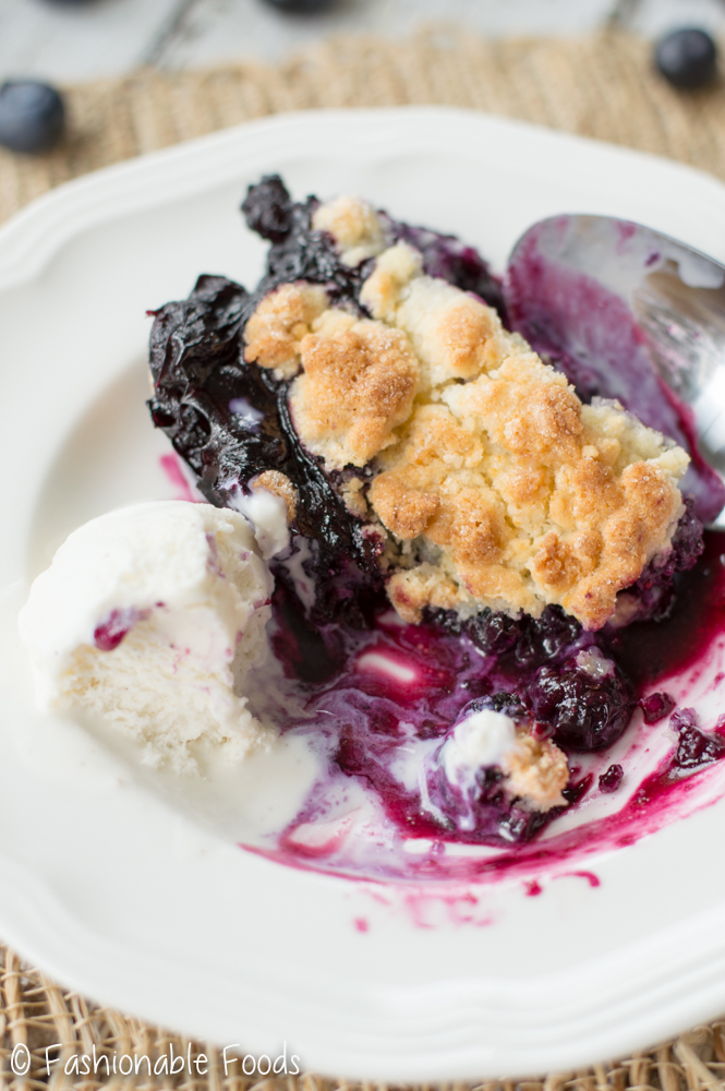 G Free Blueberry Cobbler