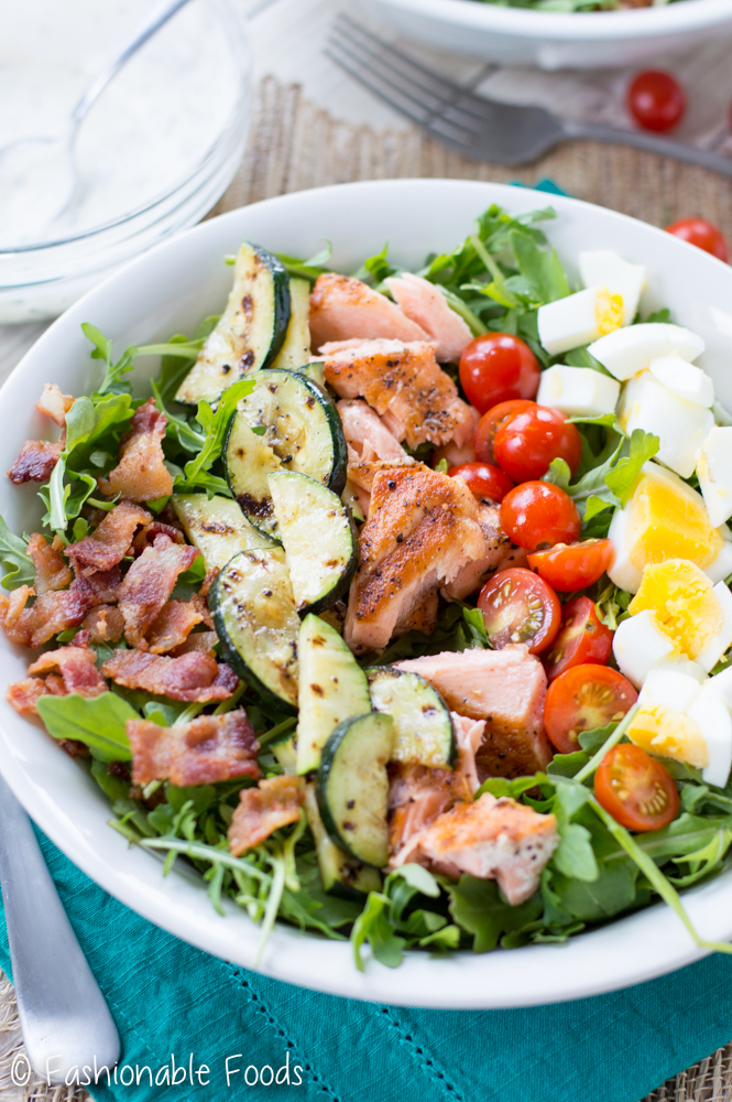 Grilled Salmon Cobb Salad