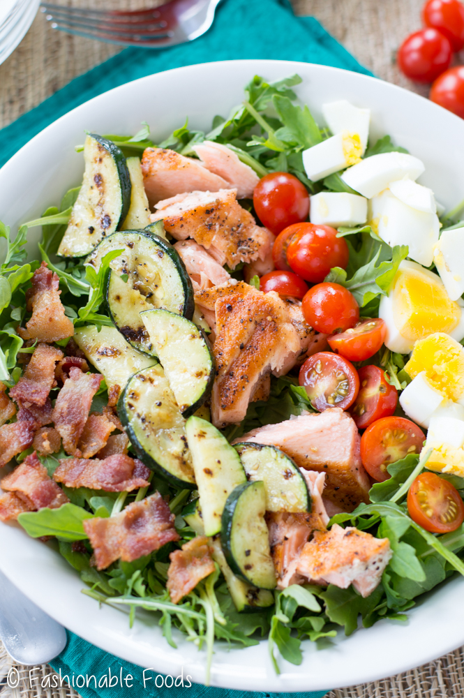 Whole30 Salmon Cobb Salad