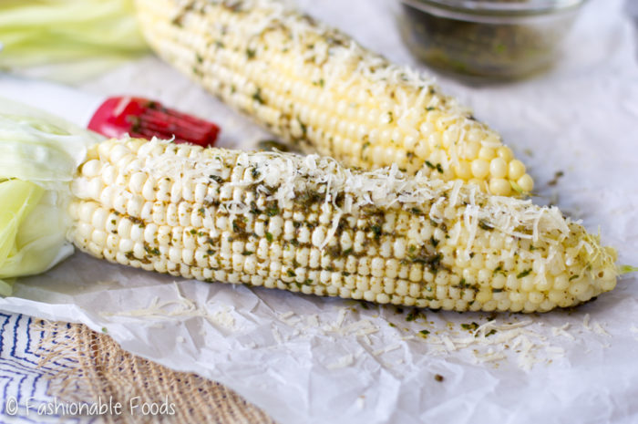 roasted-sweet-corn-with-pesto-butter